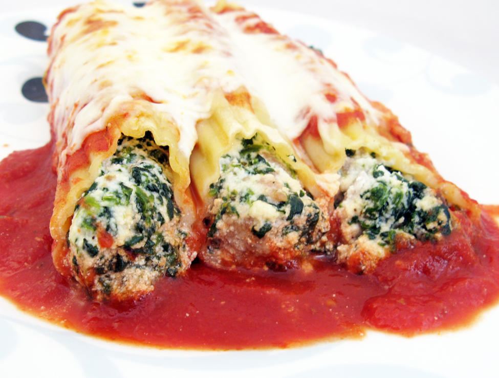 Chicken, Spinach and Ricotta Manicotti | Raptor Toe - Food, Baking ...